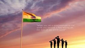 India Flag waving Premium Video Template