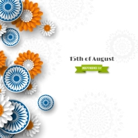 India Independence Day Instagram Plasing template