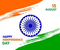 India independence day Middelgrote rechthoek template