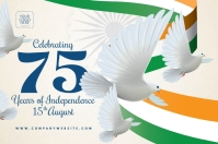 India Independence Day Post Template Poster