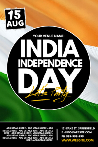 India Independence Day Poster template