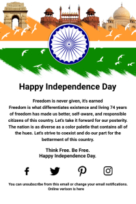 India Independence Day Template Poster