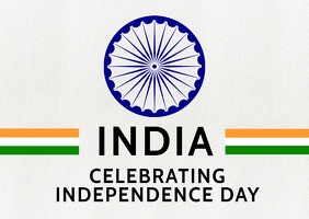 India Independence Greetings Template Postcard