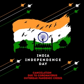 India Independence in Covid-19 Template