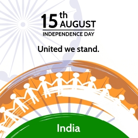 India Independence Together Template Square (1:1)