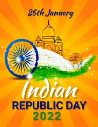 India republic day Flyer (US Letter) template