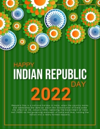 India republic day,Indian republic day ใบปลิว (US Letter) template