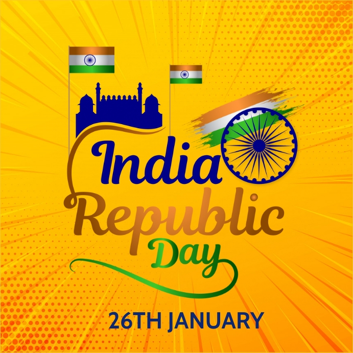 India republic day Instagram-opslag template