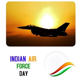 INDIAN AIR FORCE DAY Instagram Post template