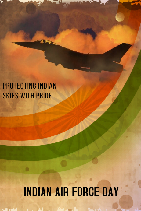 INDIAN AIR FORCE DAY Plakkaat template