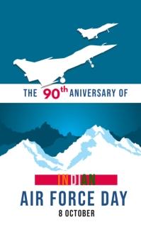 indian air force day template Estado de WhatsApp