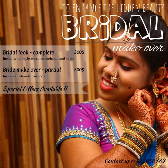 Indian bridal makeover/makeup