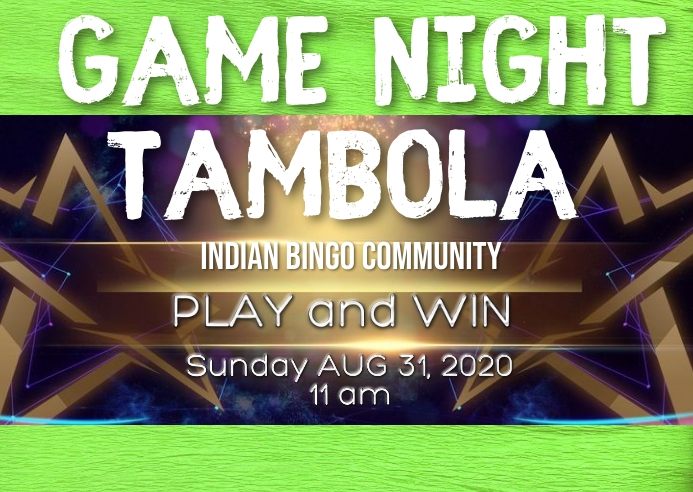 Indian community tambola game night Kartu Pos template