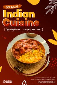 Indian Cuisine Menu Poster template