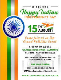 Indian Flag Independence Day Flyer
