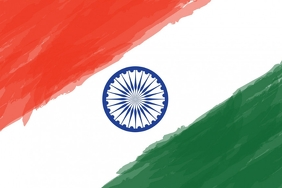 Indian flag poster template
