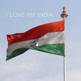 Indian Flag Waving Premium Video Template Square (1:1)