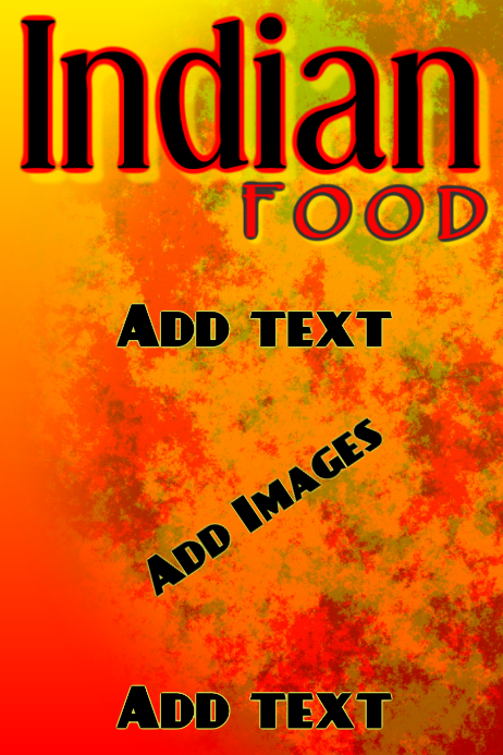 Indian food- orange red modern