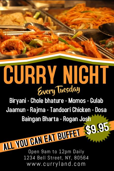indian food restaurant flyer template