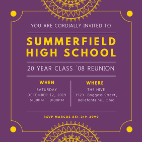 Indian High School Reunion Invite