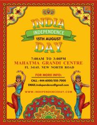 Indian Independence Day Celebration Flyer