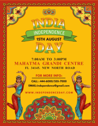 Indian Independence Day Celebration Flyer