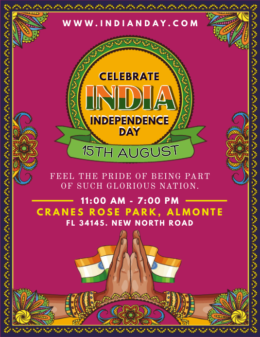 Indian Independence Day Event Flyer