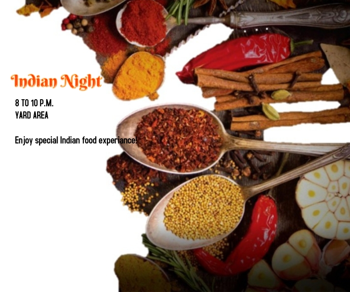 Indian Night Grote rechthoek template