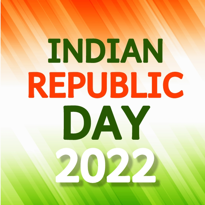 Indian republic day Instagram-opslag template