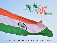 Indian Republic day poster Presentation template
