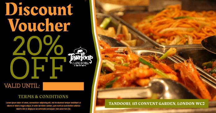 Indian Restaurant Facebook Ad Template