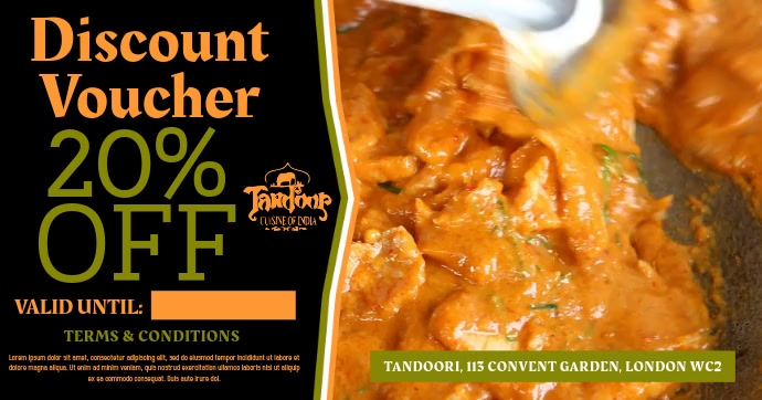 Indian Restaurant Video Promo Ad Template