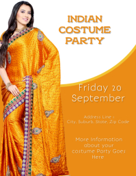 Indian Saree Costume Party Flyer