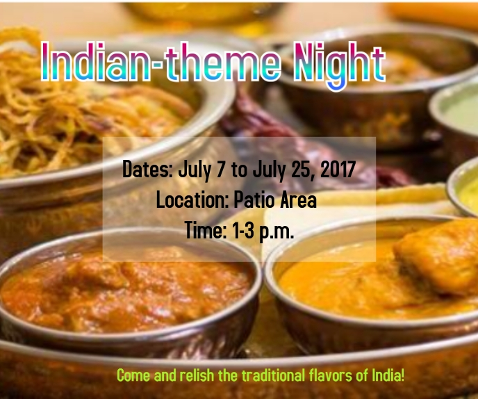 Indian-theme Night 巨型广告 template