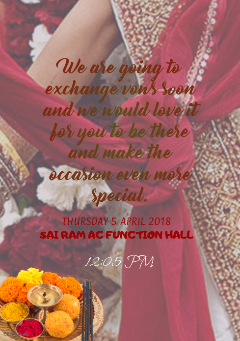 Indian Wedding Invitation Card Template Postermywall
