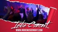 Indie Banc Concert Video Post Template Display digitale (16:9)