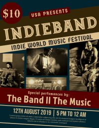 Indie band festival flyer