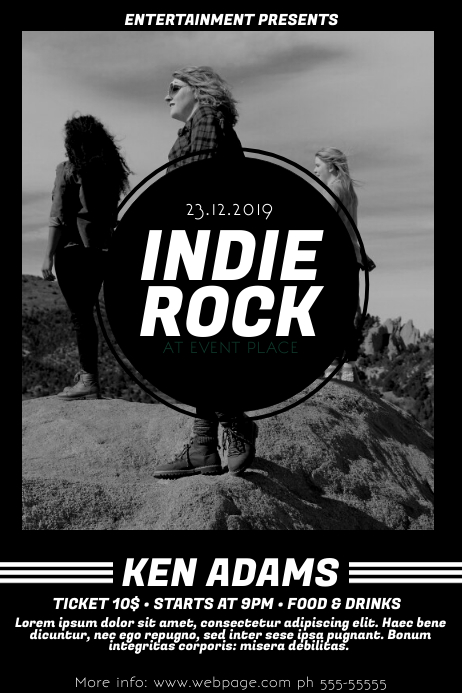 Indie band Rock Flyer template