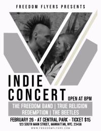 Indie Concert Flyer Template Design