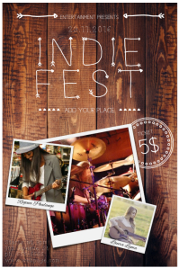 Indie fest Event Flyer Template with Three Photos