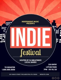 Indie Festival Pamflet (Letter AS) template