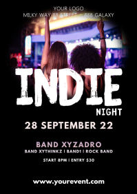 Indie Music Concert Festival Event Flyer Band