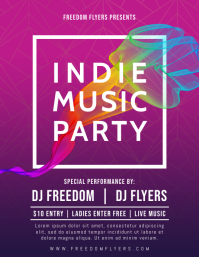 Indie Music Party Flyer Template