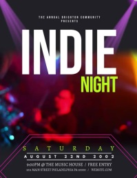 Indie night Flyer (US Letter) template