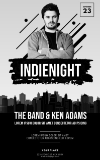indie night Flyer Template Kindle-omslag