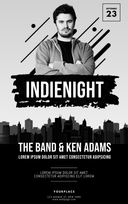 indie night Flyer Template Kindle/Book Covers