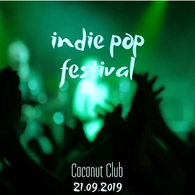Indie Pop Event Video Template Square (1:1)
