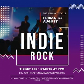 Indie Rock Concert Square Video template
