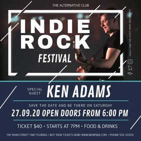Indie Rock Festival Concert Square Video template