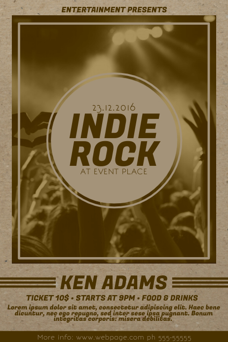 Indie Rock Flyer Template Poster
